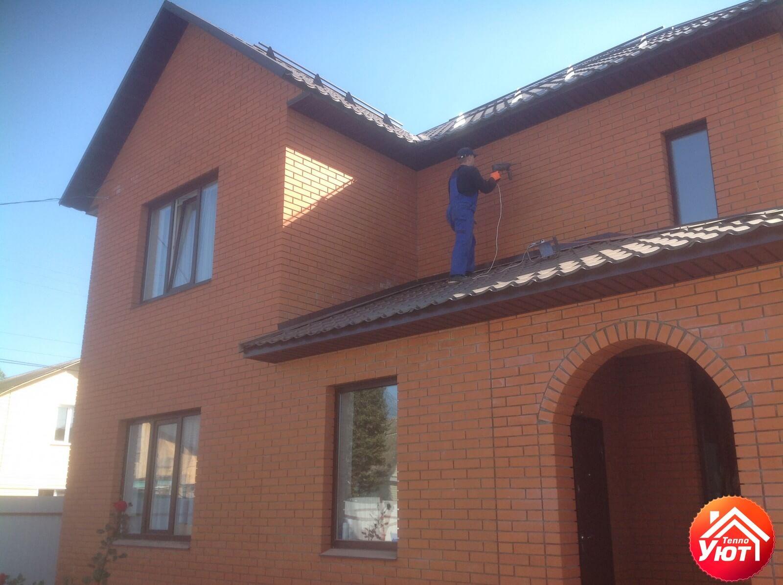 утепление пеноизолом дома по ул.Белорусская