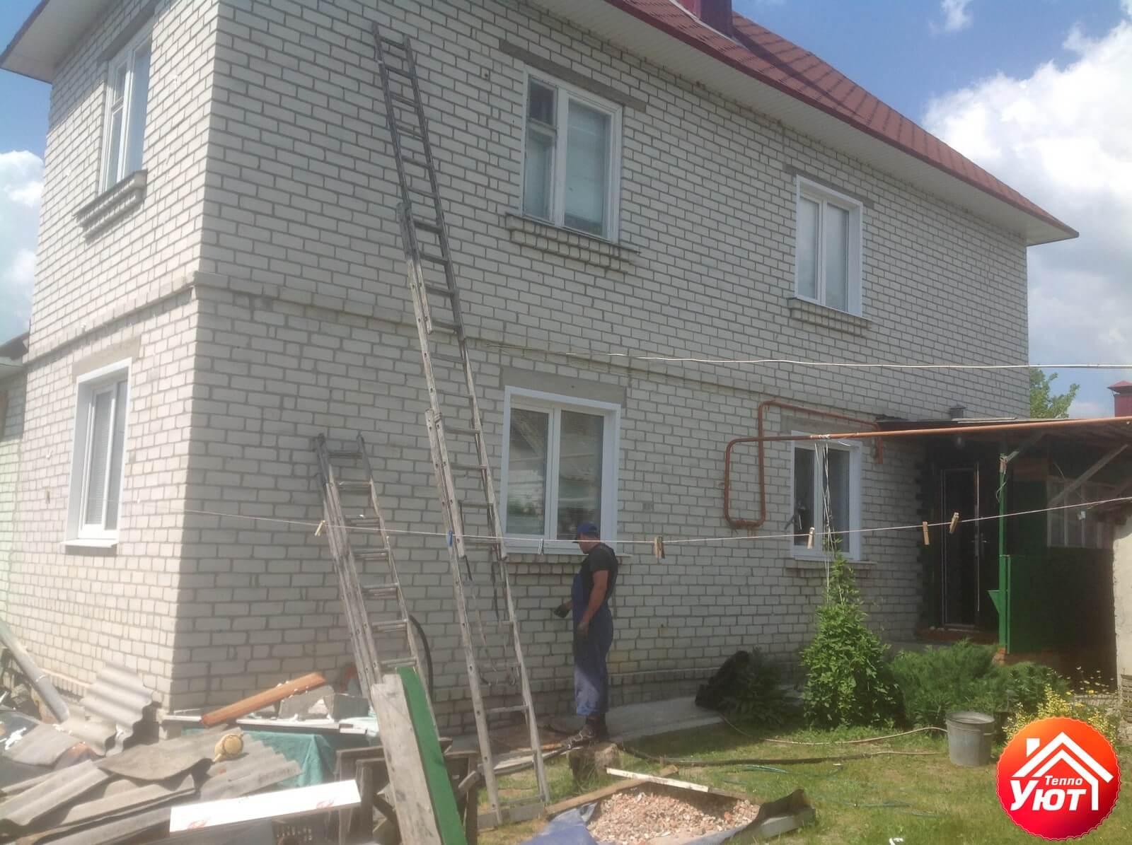 Утепление кирпичного дома Супонево