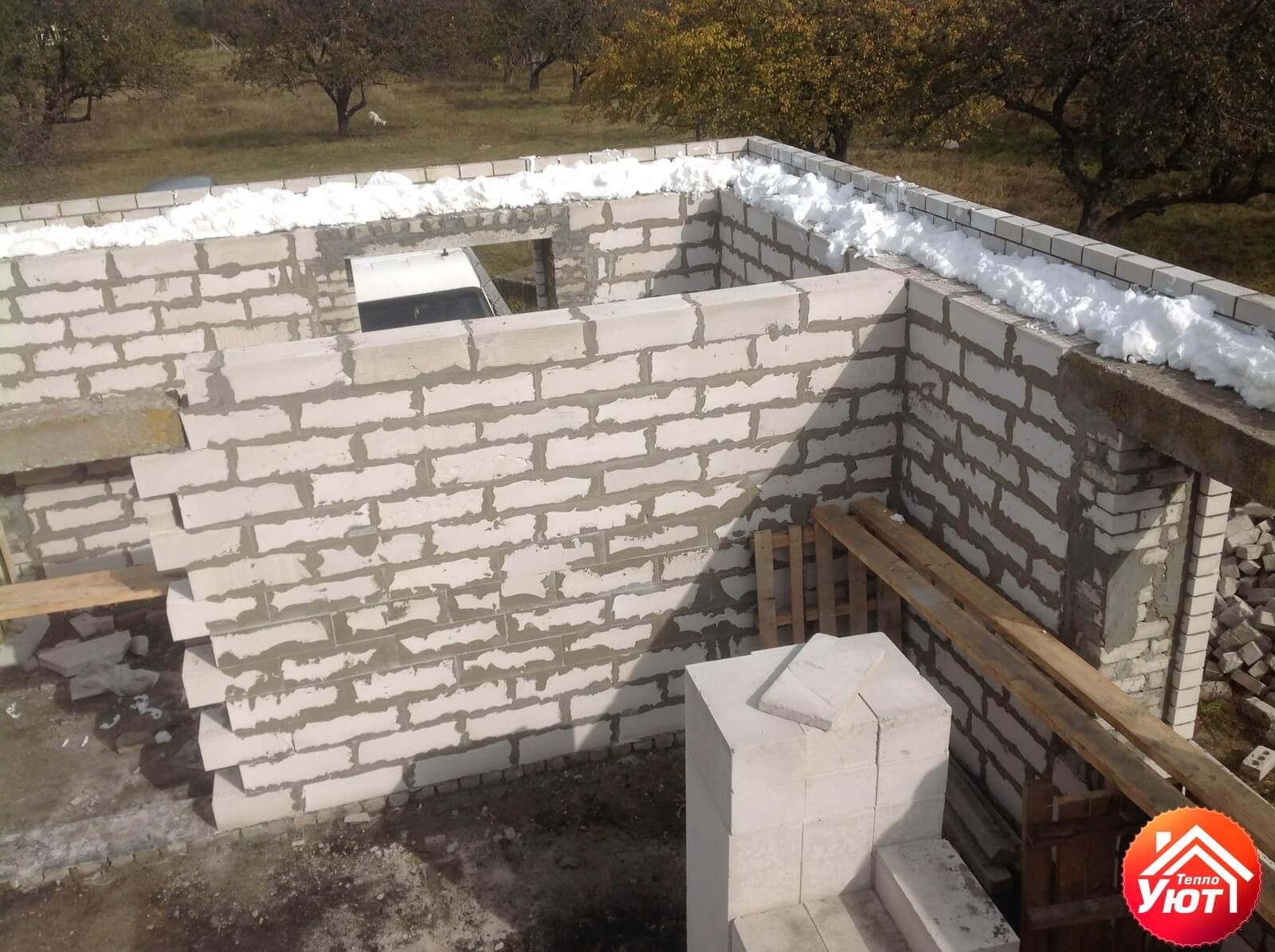 Утепление строящегося дома Пеноизолом
